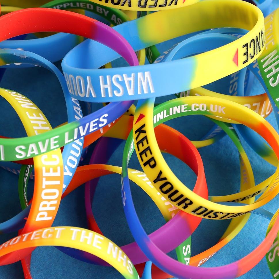 Covid 19 support silicone wristbands