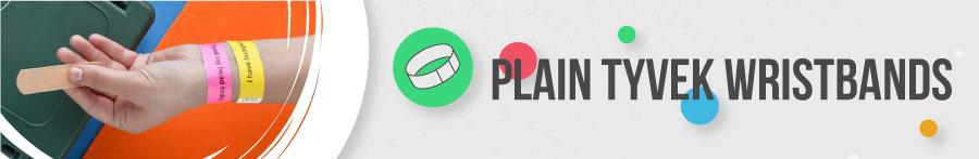 Plain TYVEK Wristbands Banner